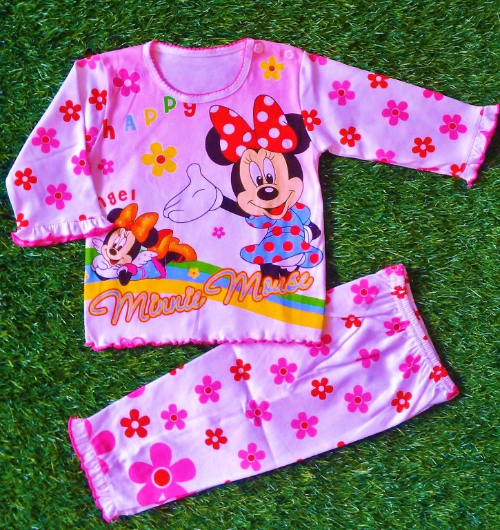 Piyama Baju Tidur Baby Minie Mickey Mouse Brand Cheery House ...